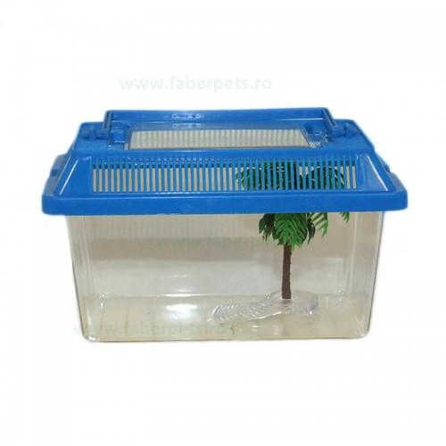 Acvariu plastic pentru animale mici 19x11x12 cm