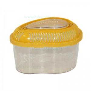 Acvariu plastic oval pentru animale mici 21x16x13 cm