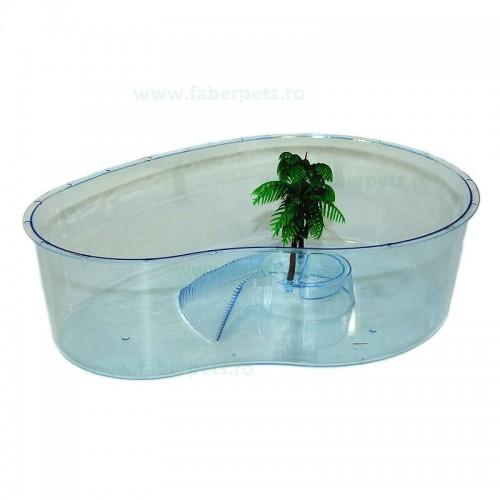 Bazin din plastic pentru testoase 28x20x8 cm