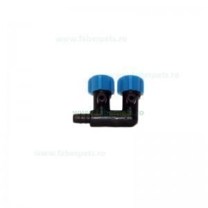 Distribuitor aer plastic cu 2 reglaje pentru acvariu 10/set