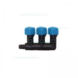 Distribuitor aer plastic cu 3 reglaje pentru acvariu 10/set