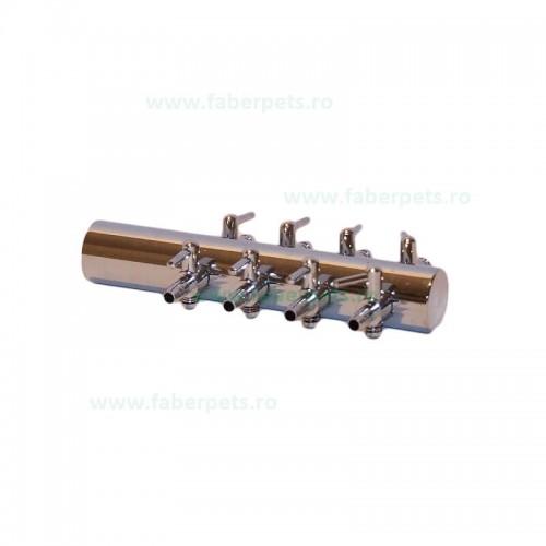 Distribuitor aer metalic 4mm cu 8 iesiri