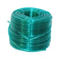 Furtun aer rigid 4 mm, verde transparent 50m/rola