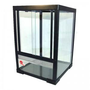 Terariu sticlă pentru animale mici 46x46x61 cm