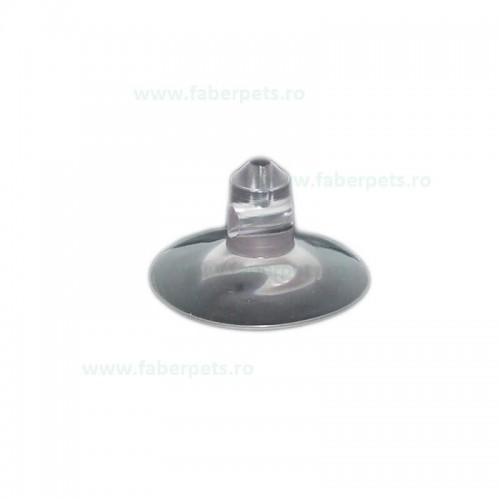 Ventuza transparent cu doua gauri 37 mm 20/set
