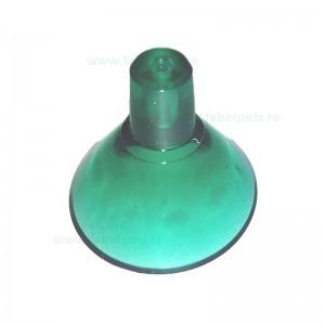 Ventuza simplu verde transparent 30 mm 10/set