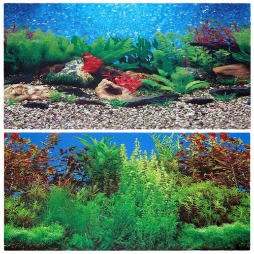 Decor acvariu 2D 2 fete 30 cm/15 m