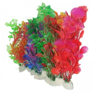 "Plante artificiale acvariu 10"" - 25 cm 6 buc"