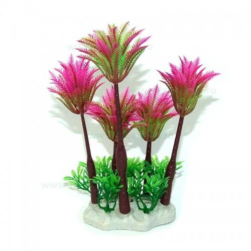 Plante artificiale acvariu palmieri 12*7*19 cm