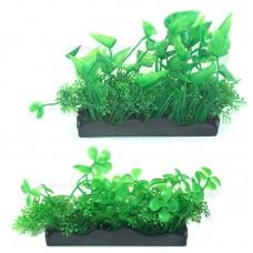 Plante artificiale acvariu cu talpa dreptunghiulara 12*8 cm