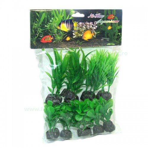"Plante artificiale 3.54"" - 9 cm 10/set"