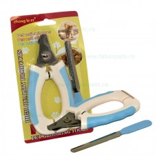 Cleste unghii cu pila pentru caini si pisici 16 cm