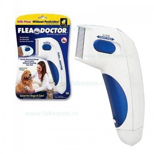 Pieptene antipurici electric Flea Doctor pentru caini si pisici