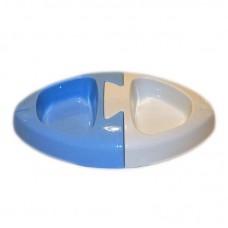 Castron dublu plastic cu forma de peste 0.5 l
