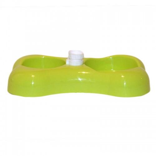 Castron plastic cu hranitor 0.3 l + adapator automat 0.2 l