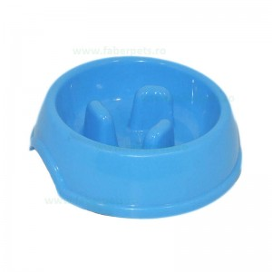Castron plastic rotund cu crestaturi 0.45 l