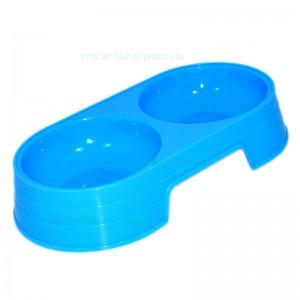 Castron dublu plastic oval 2x0.25 l