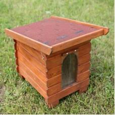 Cusca de caine din lemn cubica medie 80x65x74 cm