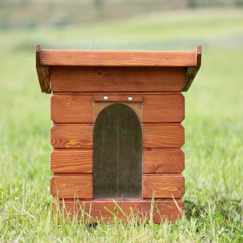 Cusca de caine din lemn cubica mica 65x50x65 cm
