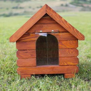 Cusca de caine din lemn clasica medie 80x65x85 cm