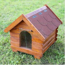 Cusca de caine din lemn clasica mica 65x50x65 cm
