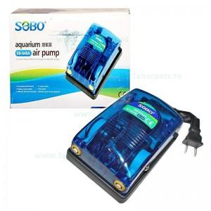 Pompa aer acvariu SOBO SB-648A 2*4L/min 5W