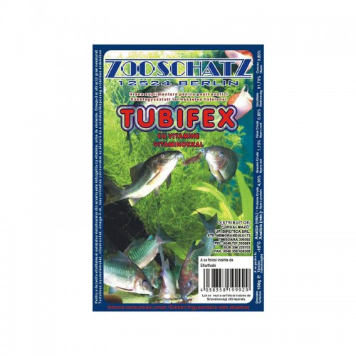 Tubifex cu vitamine congelata 100 gr 6/set