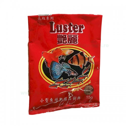 Hrana granulata fine pentru puieti LUSTER 15 gr