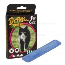 Picaturi antiparazitar spot on pentru pisici Dr. PET Active 5x1 ml