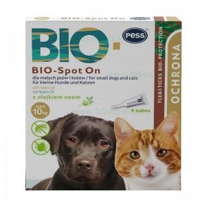 Picaturi antipurici pentru caini si pisici PESS BIO-Spot On 4x1gr, 10 kg