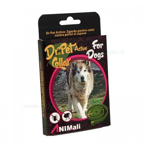 Zgarda antiparazitara DR. PET pentru caini (purici, capuse)