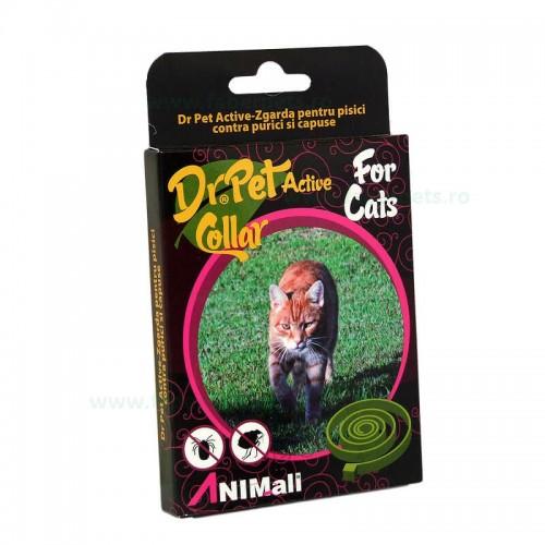 Zgarda antiparazitara DR. PET pentru pisici (purici, capuse)