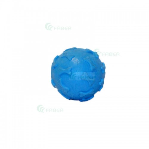 Jucarie minge cu clopotel decorată cu osuțe 6 cm