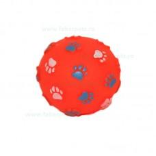 Jucarie minge cauciuc cu labute si sunet 10 cm