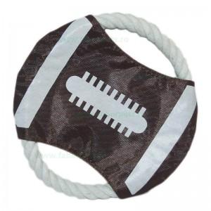 Jucarie inel din funie cu textil 19 cm