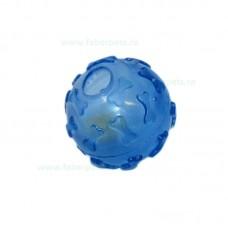 Jucarie minge transparenta cu clopotel 7 cm