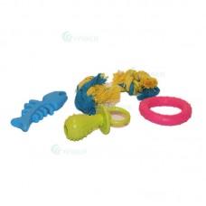 Jucarie caini cu figurine mixte 4 in set