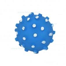Jucarie minge cauciuc cu crestaturi si sunet 8,5 cm