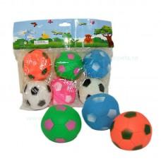 Jucarie minge colorata cu sunet 7 cm 6/set