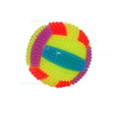Minge palpaitoare si colorata cu tepi si sunet 7 cm
