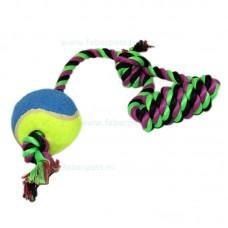 Aport funie bumbac cu minge tenis si maner 35 cm