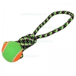 Aport funie bumbac cu minge tenis 34 cm