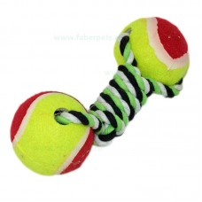 Aport funie impletite cu mingi tenisi 20 cm