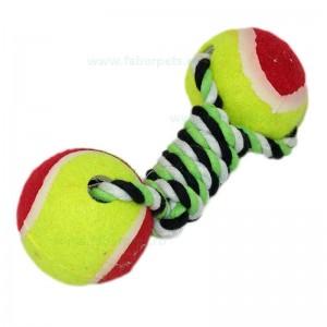 Aport funie impletita cu mingi tenisi 20 cm