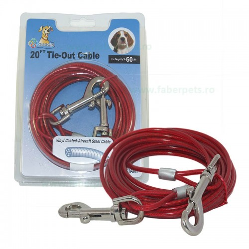 Cablu curte legat caini 3 mm x 600 cm