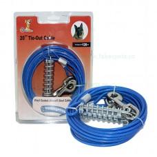 Cablu curte legat caini 4 mm x 600 cm