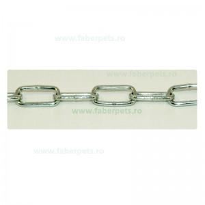 Lant curte cu inel si carabina 3 mm x 400 cm