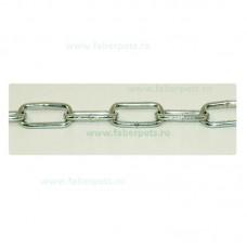 Lant curte cu inel si carabina 3 mm x 500 cm