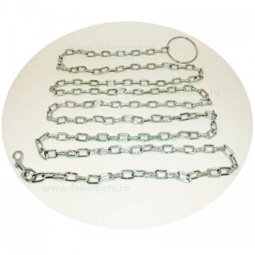 Lant curte cu inel si carabina 4 mm x 300 cm