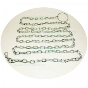 Lant curte cu inel si carabina 4 mm x 400 cm